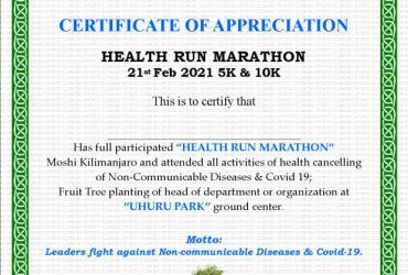Kibo sports club – Health run Marathon